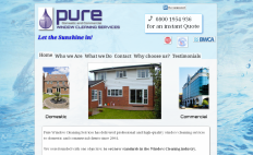 link to pure window cleaning services website